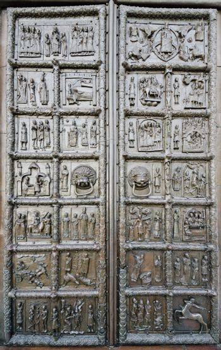 Magdeburg (Sigtuna) Gate of Sophia Cathedral in Novgorod, Russia