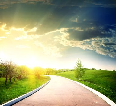 Asphalted road to the sun
