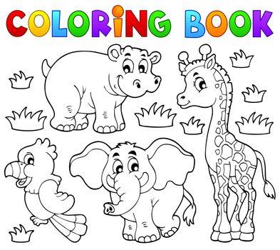 Coloring book African fauna 1