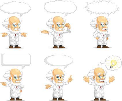 Scientist or Professor Customizable Mascot 15