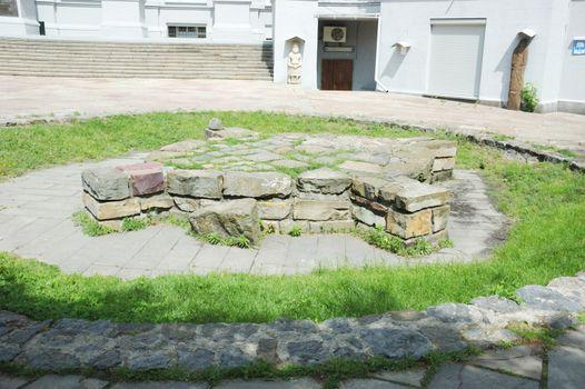 Ancient slavic cross-shaped pagan shrine,Kiev,Ukraine
