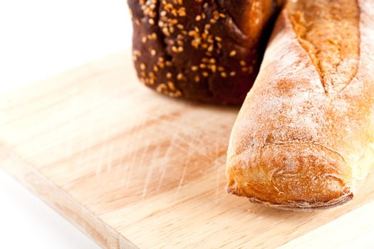 fresh bread and baguette