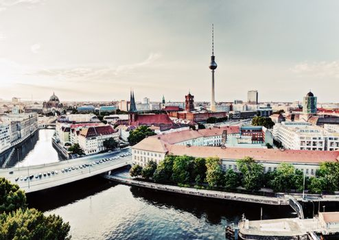 Berlin, Germany view on major landmarks