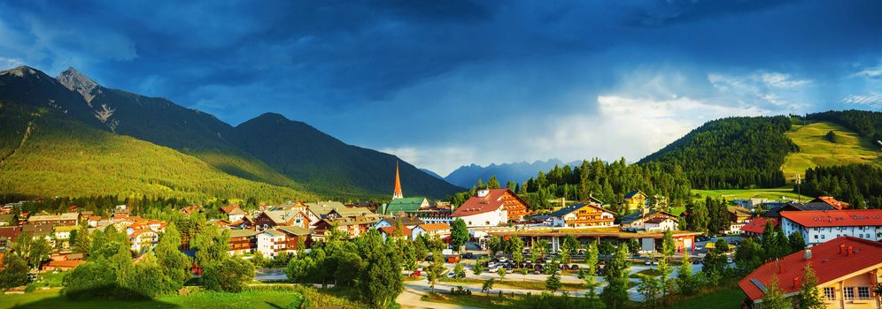 Little town in the mountains
