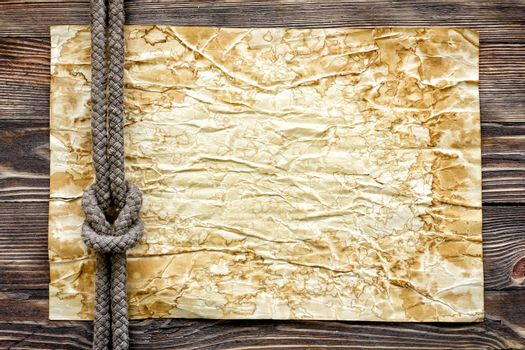 Wood texture with paper and marine knot