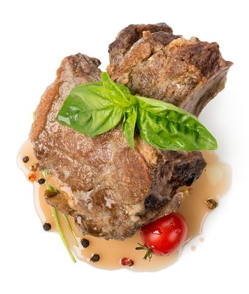 Roasted meat with sauce