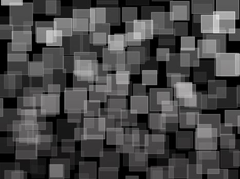 black and white square bokeh on abstract background