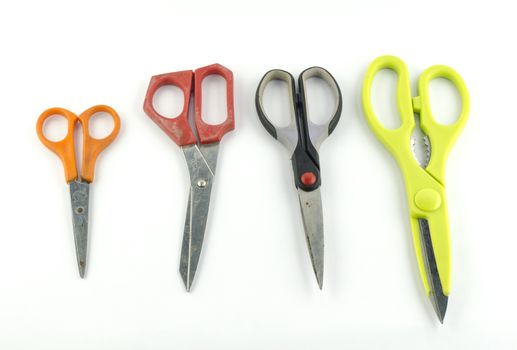 used Scissors isolated with white background