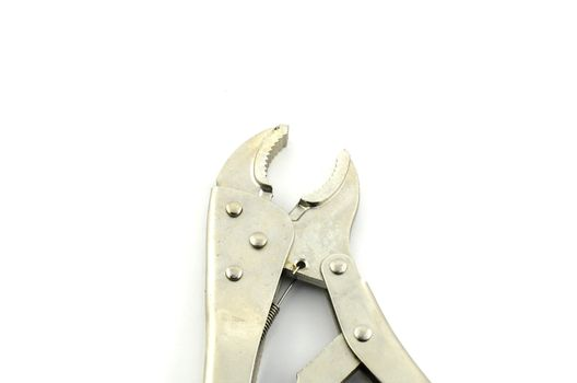 single Pliers isolated with white background