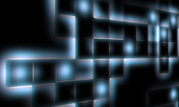 big mosaic abstract on dark background