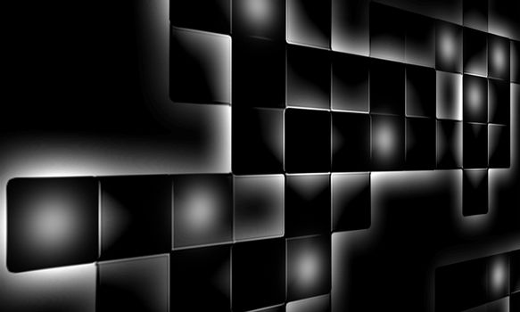 big mosaic abstract on dark background