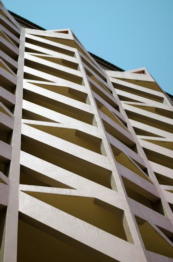 building texture and blue sky