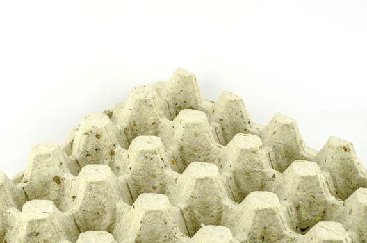 empty panel eggs isolated on white background