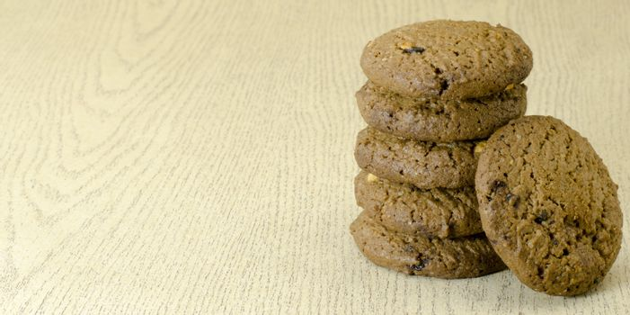 cookies on wood texture table