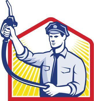 Gas Jockey Gasoline Attendant Fuel Pump Nozzle