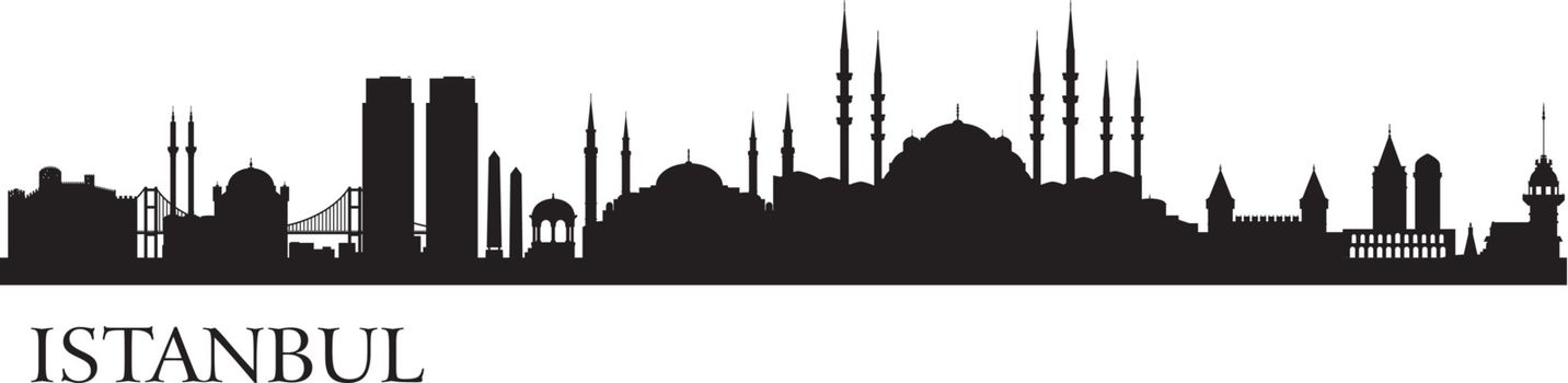 Istanbul city silhouette