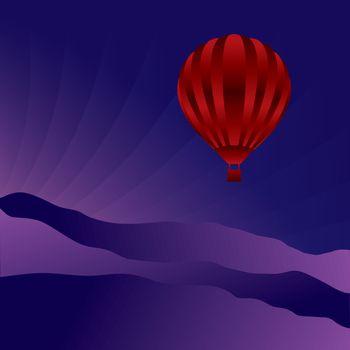 Air balloon in the sky
