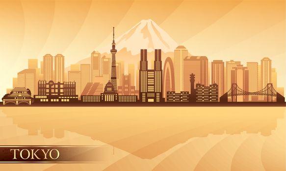Tokyo city skyline