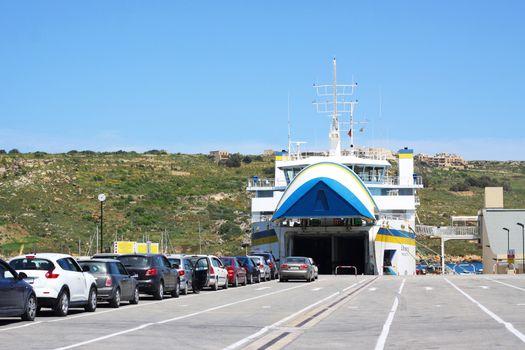 Car ferry in Malta