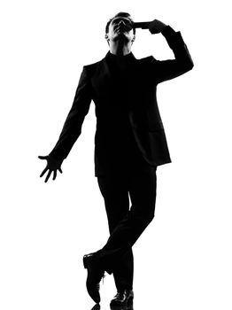silhouette  man despair suicide