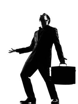 silhouette  man  anger complaigning adversity despair