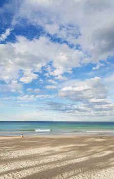 woman on manly beach in sydney australia