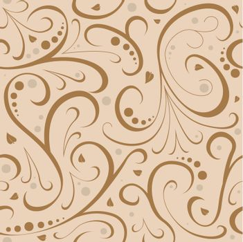 Floral Texture - Repetitive Pattern, Vector Illustration