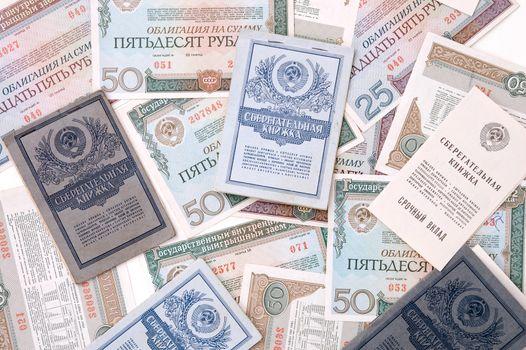 Obsolete money background