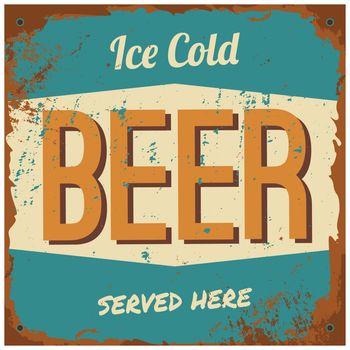 Beer Metal Sign
