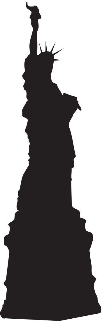 The Statue of Liberty silhouette