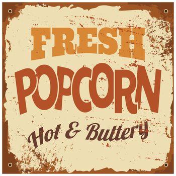 Popcorn Metal Sign