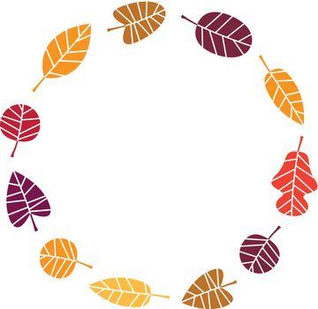 Autumn Wreath with copy space. Vector