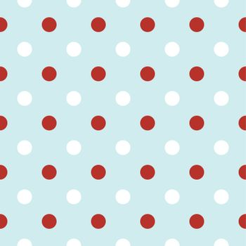 Vintage seamless xmas pattern with Polka dots. Vector