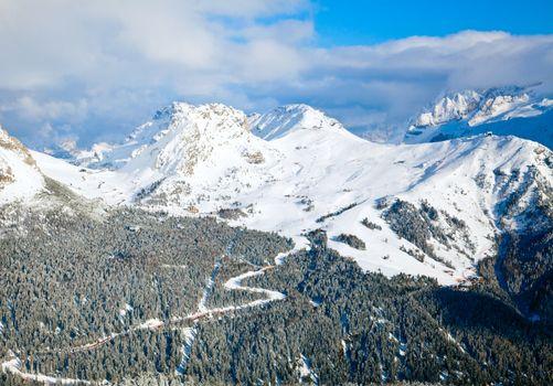 Ski Resort in Dolomites