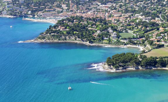 overview of the harbor of Cassis