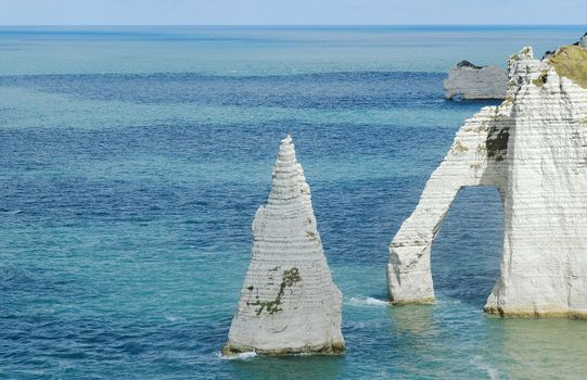 The french Normandy coast