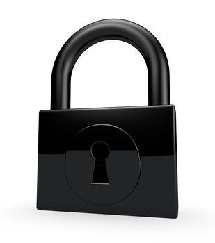 padlock on white background - 3d illustration