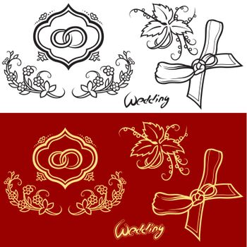 Wedding Ornament -  Hand Drawn Illustration, Vector