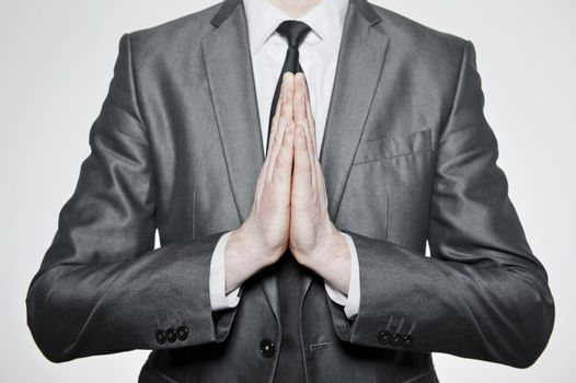 hands set in pray