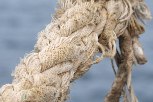 A Naval Rope on a Pier, in Canary Islands, Spain