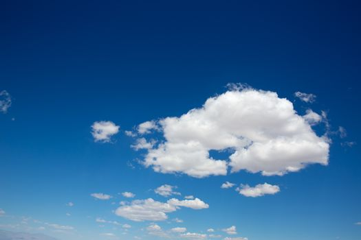cumulus perfect sky with deep blue background