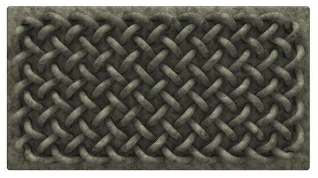 stone board with celtic knots ornament - 3d illustration