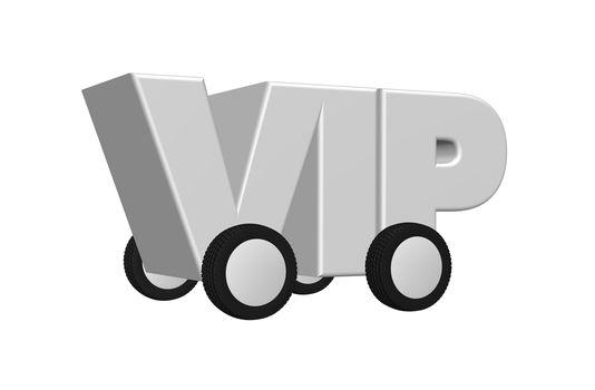 vip on wheels - 3d illustration