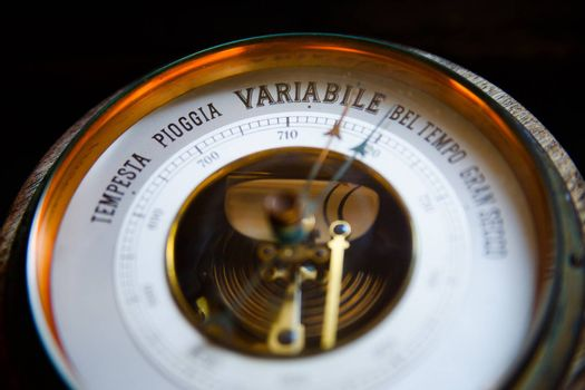 Photo of a old barometer