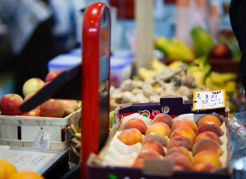 Farmer selling fresh fruits
