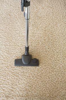 Carpet being hoovered