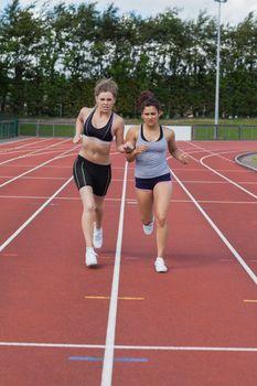 Women trying to win race