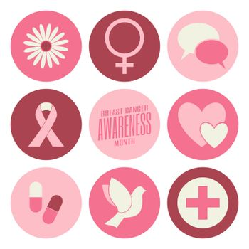 Breast Cancer Awareness Icons Collection