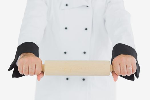 Chef using rolling pin