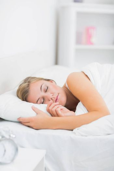 Portrait of serene woman sleeping